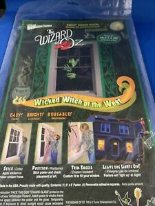 RARE Pumpkin Hollow Wizard of Oz Backlit Window Posters Wicked Witch Halloween