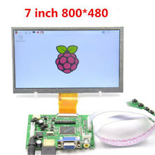 7Inch TFT LCD Monitor Touch Screen + Driver Board HDMI VGA 2AV for Raspberry Pi