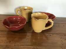 Park Designs Village Collection Mugs Bowls Cups Dinnerware Lot Set Microwave