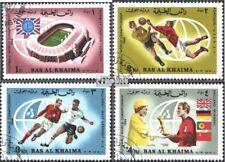 Ras al Khaimah 152A-155A gestempeld 1966 Final Voetbal-WM ´66,Engeland