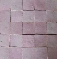 20 (0,2m²) Zelliges rosé hell 10x10 cm Mosaikkacheln Wandfliesen handgemacht