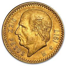 1917 Mexico Gold 10 Pesos AU - SKU #12832