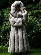 Nouveau Platine Shadow saga fox fur Swing Manteau blaufuchs Pelzmantel XXL RRP 16000