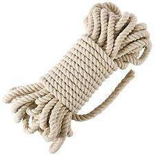 10mm 50 pies de cordón Soga Gruesa Algodón Macramé para tapices y plantas de jardín