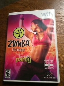 Zumba Fitness (Nintendo Wii, 2010)  With Manual Game and Case Mint Adult Owned