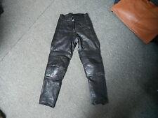 """SPORTEX taille 10 Taille 27 """" pied 29 """" cuir noir femmes pantalon moto"""