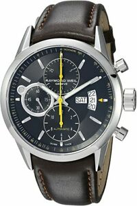 Raymond Weil Men's 7730-STC-20021 Automatic Chronograph Watch w/ Leather Band