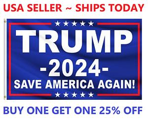 Trump 2024 Save America Again Donald MAGA KAG Republican Conservative Flag USA
