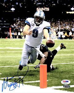 SALE! Matthew Stafford Signed Autographed Detroit Lions 8x10 Photo + PSA/DNA COA