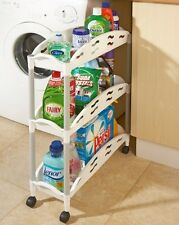 Space Genie 3 Tier Slide Out Rolling Storage Kitchen Bathroom Organiser Trolley