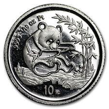 1994 China 1/10 oz Platinum Panda BU (Out of Plastic)