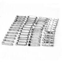 50Pcs Applied Silver Tone 2-Hole 25mm Brooch Back Bar Pins Safety Catch ELH