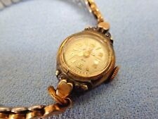 Vintage 10k Rose Gold Plated Bezel Helbros Brand Stretch Band Watch As Found