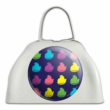 Rainbow Peeps Pattern White Metal Cowbell Cow Bell Instrument