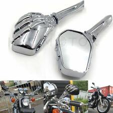Skull Skeleton Hand Rear View Mirrors For Harley Softail Springer Classic FLSTSC