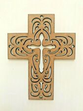 Mdf Mini Cross Silhouette Wall Hanging 10 cm