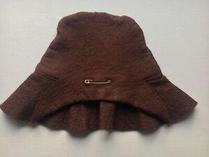 "Genuine Gabrielle Designs 1980s BROWN HAT  for 18"" Paddington Bear - Good Cond"