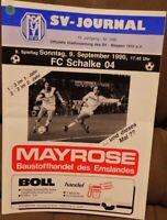 SV Meppen + Journal + 09.09.1990 + 2.Bundesliga gegen FC Schalke 04 -/608