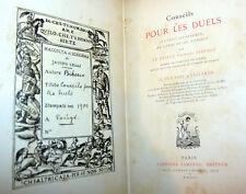 Cavalleria Duelli Sfide Armi Pistole - 1900 Bibesco e d'Escland: Conseils Duels