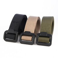 Men's Outdoor Sports Military Tactical Nylon Waistband Canvas Dazzling Web Belt
