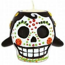 Day of the Dead Female Tea Light Candle Holder