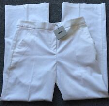 ASOS Stretch Lightweight Dress Pant White Cotton Blend NWT Size 6