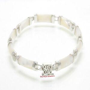 Nine Segment Mother of Pearl Bracelet w/ 925 Sterling Silver Links - TPJ
