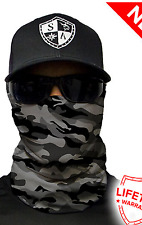 SA GREY MILITARY CAMO Face Shield Balaclava Head band Beanie Bandana do rag