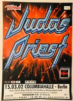 Judas Priest Berlin Germany March 2002 Demolition World Tour Poster Near Mint