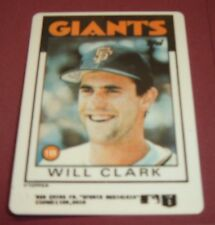 Topps Limited Edition Porcelain Baseball Card complete with stand Will Clark