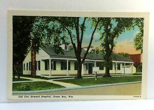 Green Bay Wisconsin Old Fort Howard Hospital Vintage Postcard