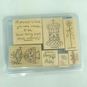 Stampin Up 2004 Pretty Princess Set Of 7 Stamps