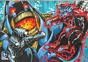 Cryptozoic Epic Battles 2 Panel Sketch card Chris Meeks Anti-Monitor Dex Starr