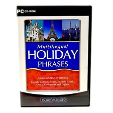 Pc CD-ROM Multilingual Holiday Phrases Communicating Languages French German ect