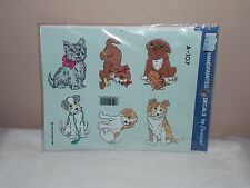 Vgt 1992 Decoral Handpainted Waterslide Decal Puppies A-107 New Old Stock