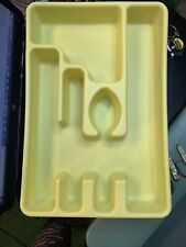 New listing Vintage Yellow Retro Rubbermaid Silverware Tray Drawer Organizer #2921 Utensils