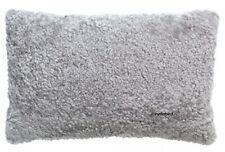 "New IKEA BJORKSNAS Sheepskin Wool Cushion Pillow Cover 26""x16"" Light Gray"