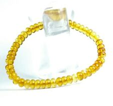 Polished Baltic Amber Bracelet (EA202) gem stone handcut healing elasticized