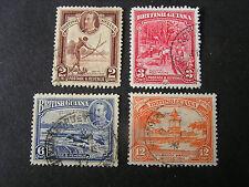 BRITISH GUIANA, SCOTT # 211/212(2)+214/215(2), 1934 KGV DEFINITIVE ISSUE USED