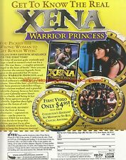Xena Warrior Princess Collectors Edition 2000 Magazine Advert #7819