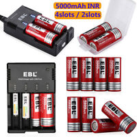 5000mAh Li-ion 26650 Rechargeable Battery High Drain w/ Charger for Flashlight