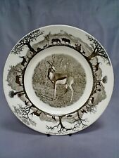 1ST ED WEDGWOOD KRUGER NATIONAL PARK/RHODESIA SPRINGBOK PICTORIAL PLATE 10.75 ""