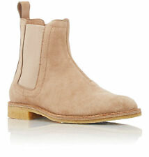 New Handmade Mens Beige Chelsea Suede Leather Boots, suede boots crepe sole