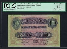 East Africa 100 Shilling - 5 Pounds 1-8-1951 P31bs Specimen Extremely Fine