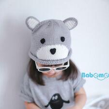 New Toddler Kids Girl&Boy Baby Infant Winter Warm Crochet Knit Hat Beanie Bear H