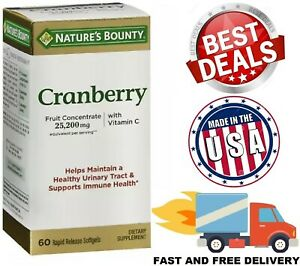 CRANBERRY Concentrate 50:1 25000 mg with Vitamin C E Urinary Tract Pills Softgel