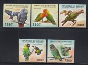 BURUNDI Parrots MNH set