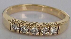 Love★ diamond in aus 585 Gold Ring Brillant Schmuck mit Brillanten diamant 0.25★