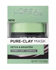 L'Oréal Paris Skincare Pure-Clay Face Mask with Charcoal for Dull Skin Detox
