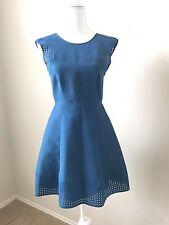 Women's J Crew Eyelet Diamond Blue Dress Size 0